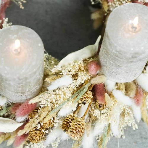 Hierba seca cola de conejo floristry Lagurus rojo-marrón 100g