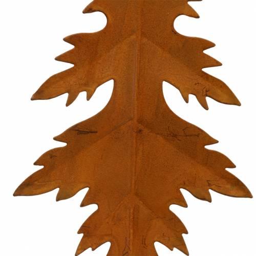 Pátina de hojas de otoño para colgar 13cm 4pcs