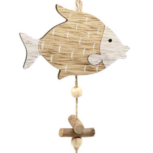 Percha marítima con pez 36cm