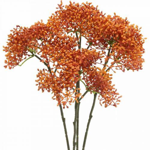 Rama de flor artificial de naranja de saúco 52cm 4pcs