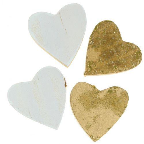 Corazón de madera en la bolsa 2cm - 4cm 24pcs