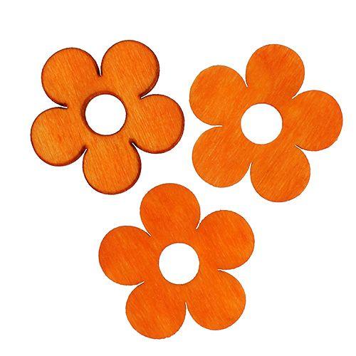 Flor de madera para rociar naranja 4cm 72pcs
