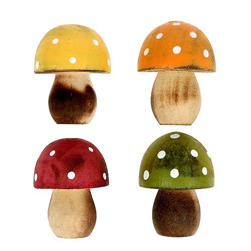Setas de madera espolvorear decoración 3cm surtido 24pcs