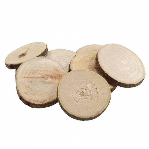 Discos de madera redondos naturales Ø3,5–5cm 400g en red
