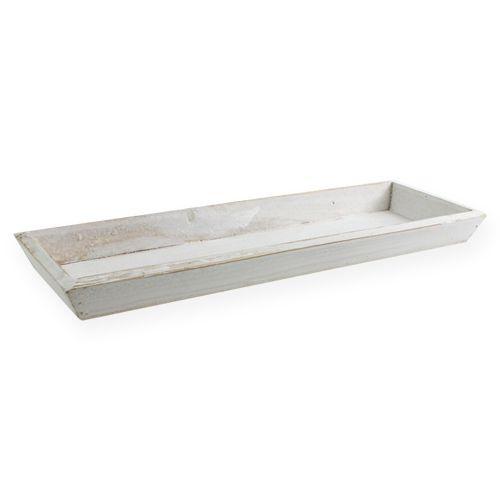 Cuenco de madera blanco 35cm x 11cm