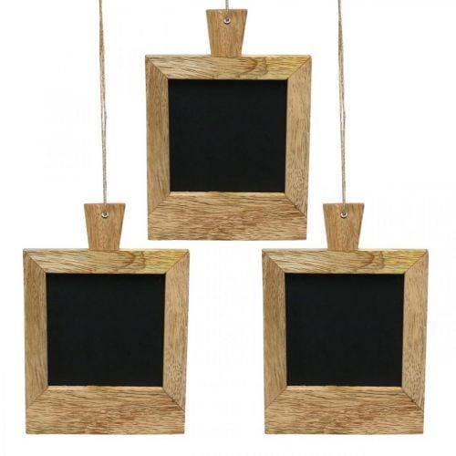Mini pizarra decorativa para colgar naturaleza 9 × 13cm 3 piezas