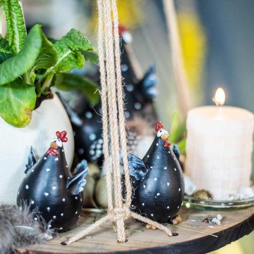 Pollo de decoración de Pascua, pollo divertido, decoración de mesa para primavera, pollo de Pascua 13cm