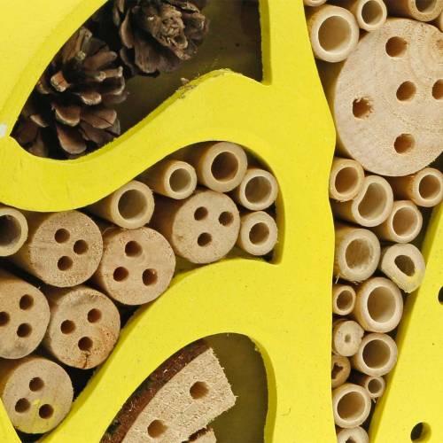 Hotel insecto redondo amarillo Ø25cm