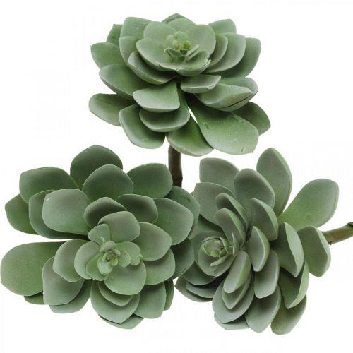 Decoración de plantas suculentas artificiales plantas artificiales verde 11 × 8,5cm 3 piezas