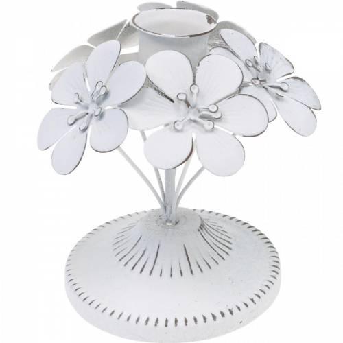 Decoraciones de primavera, candelabros de metal con flores, decoraciones de boda, candelabros, decoraciones de mesa
