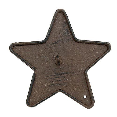 Portavelas estrella para pegar 9cm marrón