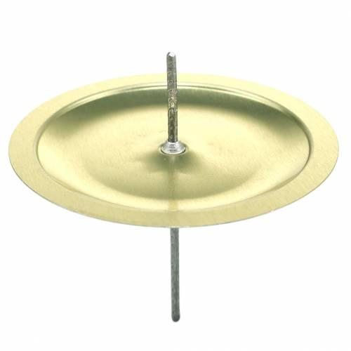 Candelero con espina oro Ø6cm 36pcs