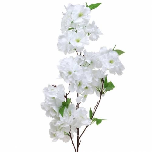 Rama de flor de cerezo blanco artificial 103 cm