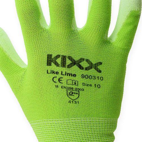 Guantes de jardín Kixx verde claro, lima talla 10