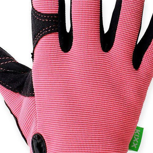 Guantes sintéticos Kixx talla 8 rosa, negro
