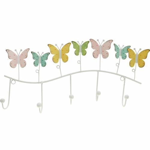 Decoración primaveral, barra de gancho con mariposas, decoración de metal, armario decorativo 36cm