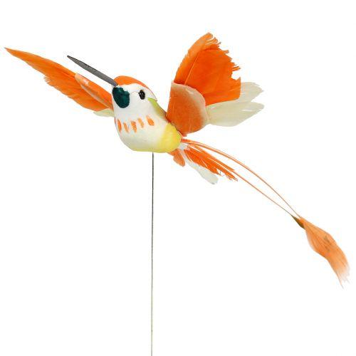 Colibrí en el cable para enchufar Rosa, Naranja 17cm 6pcs