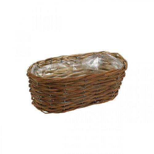 Cesta de flores, cesta para plantar, decoración de flores naturales L31cm H11.5cm
