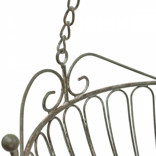Cesta de flores cesta decorativa para plantas óxido, metal blanqueado Ø28 / 22cm, juego de 2
