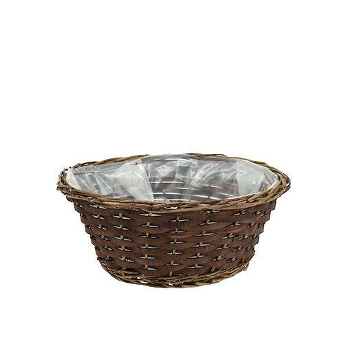 Cuenco de cesta de Ø30cm H12cm sin pelar