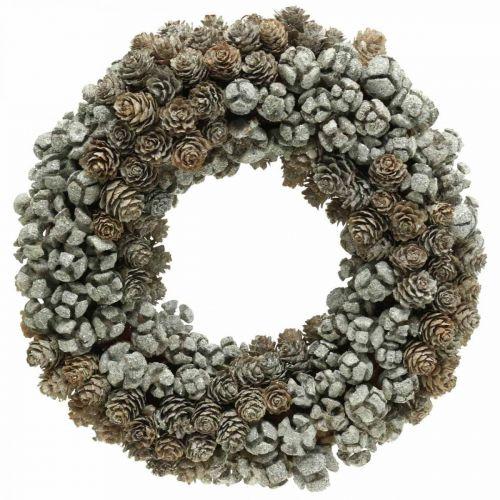 Corona decorativa conos alerce ciprés corona de mesa Navidad Ø30cm