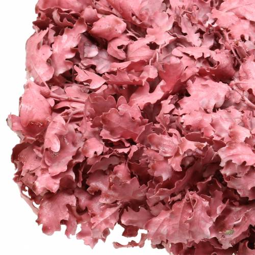 Corona de hojas de roble rosa encerado Ø38cm