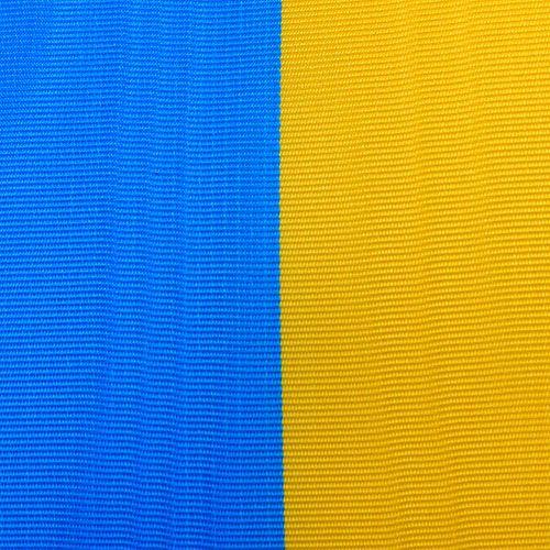 Cintas de guirnalda moiré azul-amarillo