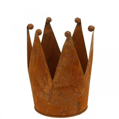 Corona decorativa, decoración de metal, pátina Ø15cm H11.5cm