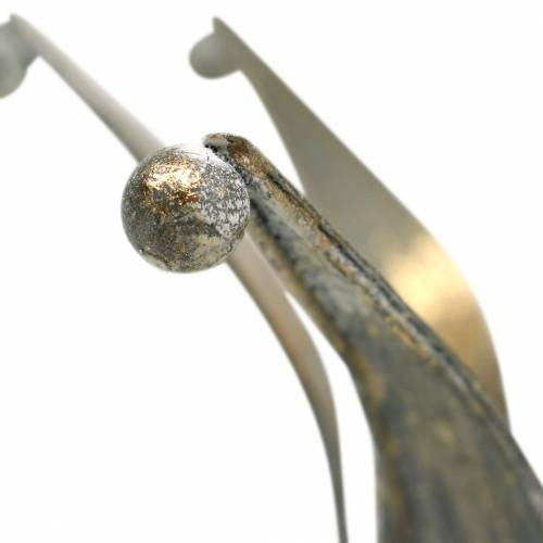 Corona metal dorado aspecto antiguo Ø13,5 / 17,5cm juego de 2