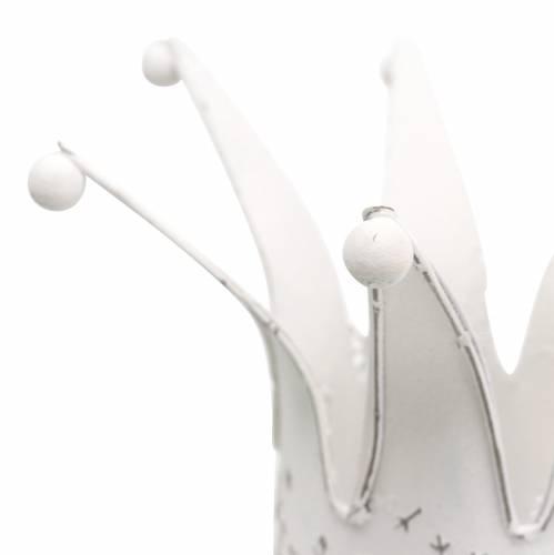 Corona de metal blanco, óxido Ø13,5 / 17,5cm, juego de 2