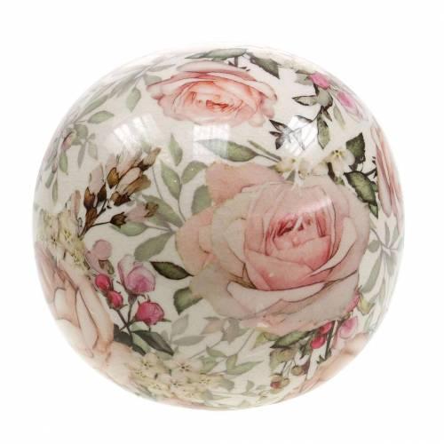 Bola decorativa rosa loza rosa claro Ø9cm