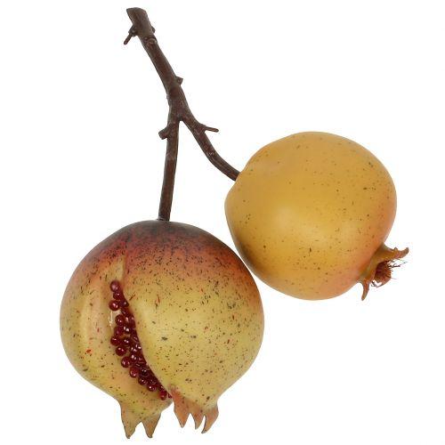 Granada de frutas artificiales con semillas Ø6cm - Ø7cm L18cm