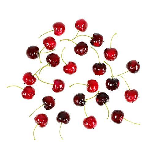 Mezcla de cerezas dulces de frutas artificiales Ø2,5cm 24pcs