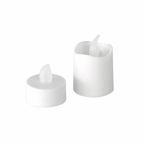 Velas de candelita LED con efecto de llama blanca cálida juego de 16 32 baterías surtidas