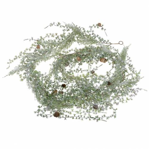 Lärchengirlande Green / Geeist con conos 180cm