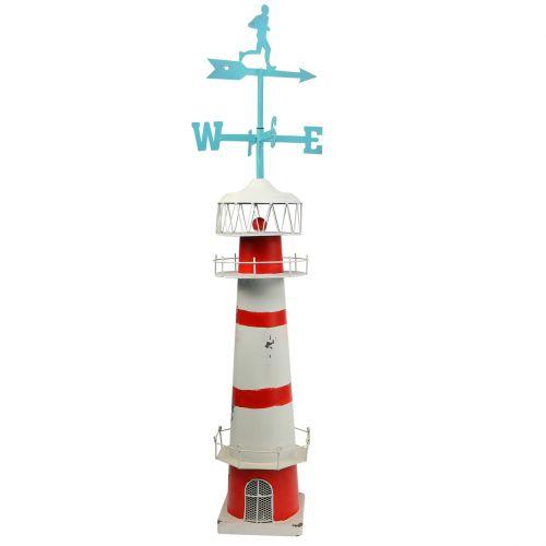 Faro rojo blanco con veleta 90cm