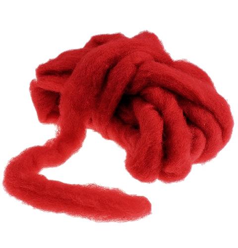 Fusible de lana 10m rojo oscuro