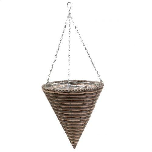 Cesta lámpara cono natural Ø30cm H36cm