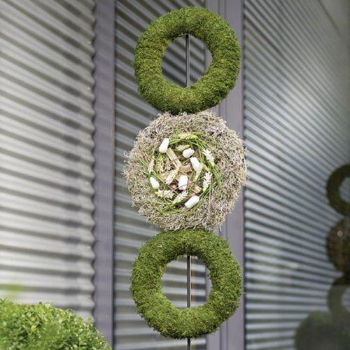 Corona de anillos de espuma floral gris H3cm Ø20cm 6pcs