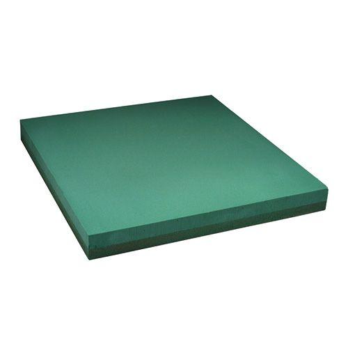 Placa de espuma floral diseño hoja floral verde 61x61cm 1pc