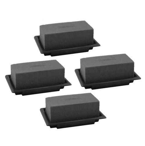OASIS® Black Table Deco Mini Floral Foam Negro 4 piezas