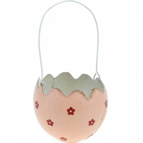 Decoraciones de Pascua, cáscaras de huevo para plantar, cestas de Pascua de metal, decoraciones de primavera