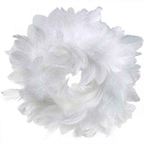 Decoración de pascua corona de primavera blanco Ø18cm decoración de primavera