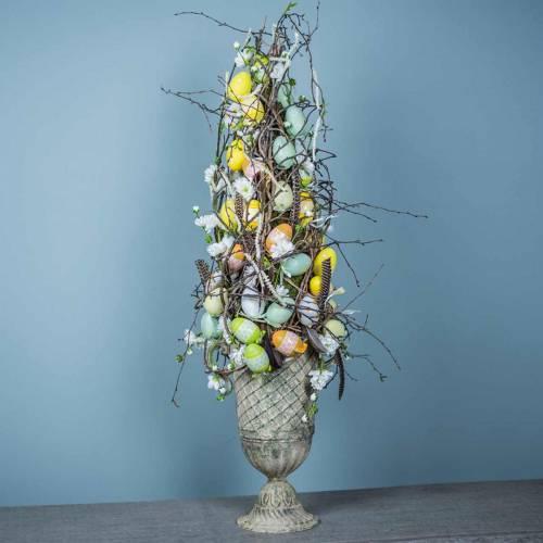 Huevos de Pascua para colgar verde, blanco, amarillo 6cm 12pcs