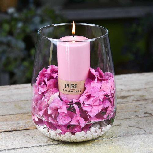 Vela de pilar PURE 130/70 Vela decorativa rosa cera natural sostenible