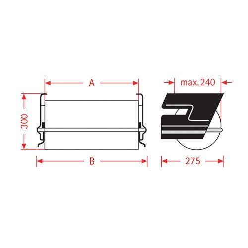Dispensador de papel de aluminio bajo mesa ZAC 50cm