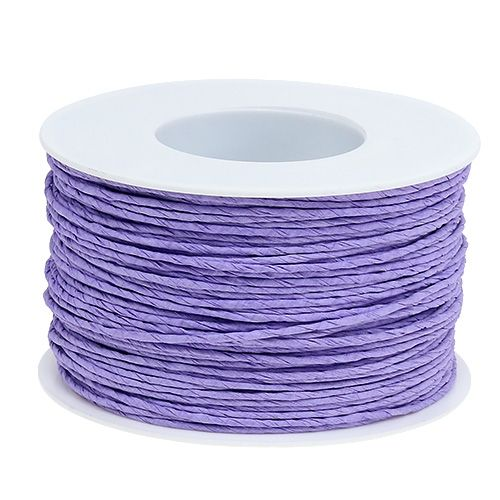 Cable de papel envuelto en alambre Ø2mm 100m lavanda