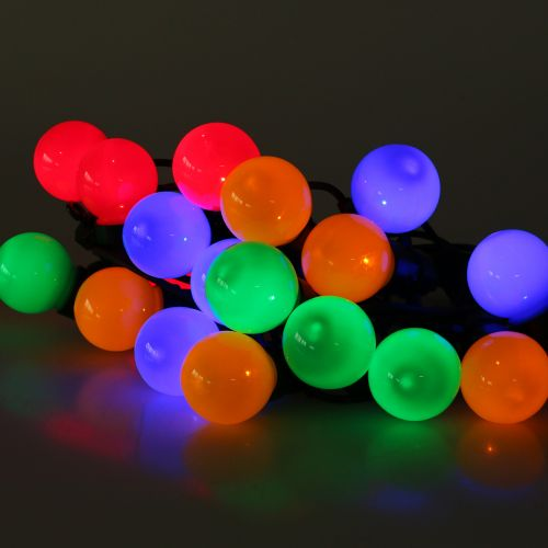 Luces de hadas de fiesta coloridas para exteriores 20 LED 9.5m
