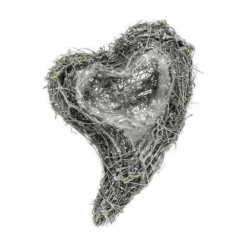 Planta corazón vid 15cm x 23cm x5cm blanco 4pcs