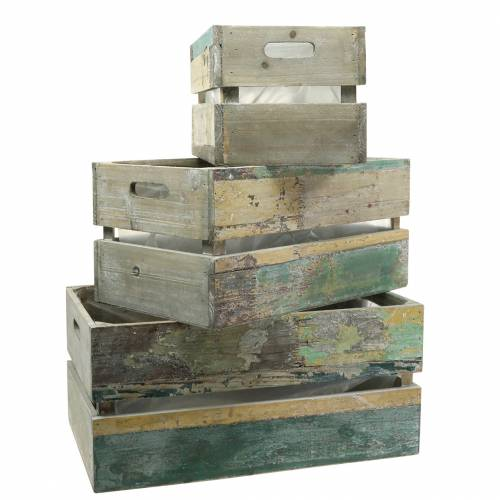 Jardinera caja de madera 45/39 / 34,5cm 3pcs